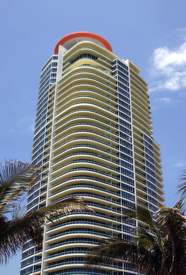 Bloques de apartamentos de Miami foto de archivo