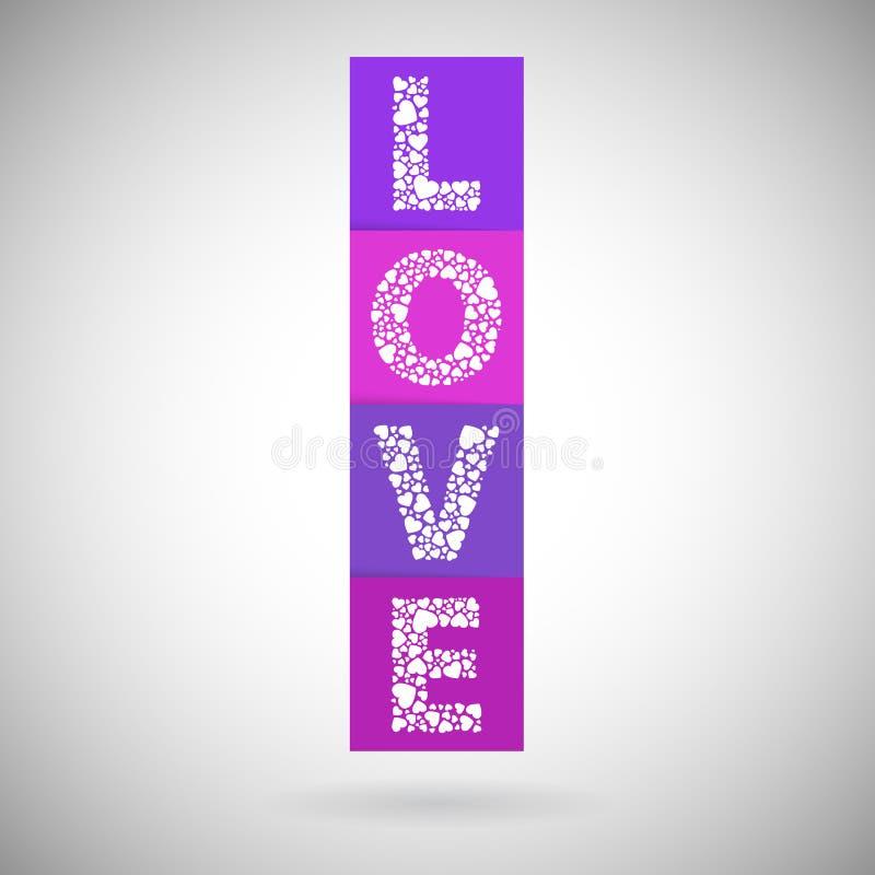 Bloques de corazón del amor stock de ilustración