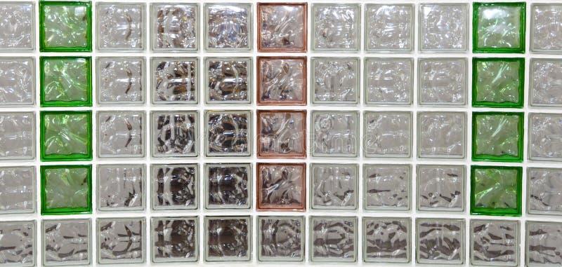 Bloques de cristal decorativos en diversos colores fotografía de archivo