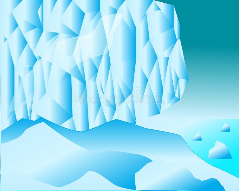 bloques de hielo y extensiones de la nieve del mar libre illustration