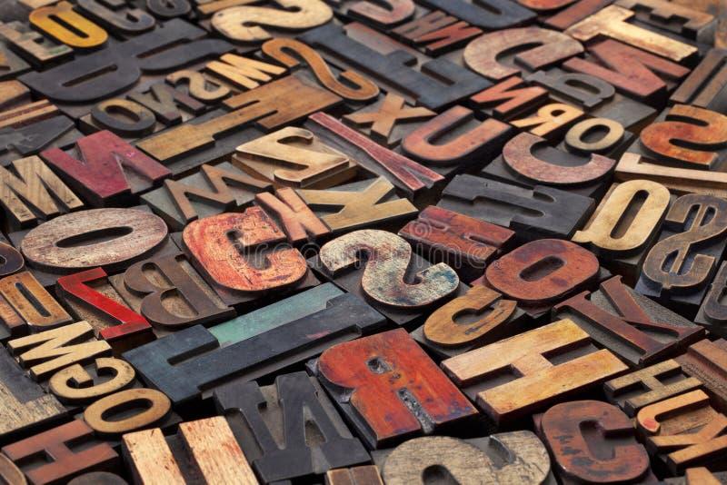 Bloques de impresión antiguos de la prensa de copiar foto de archivo