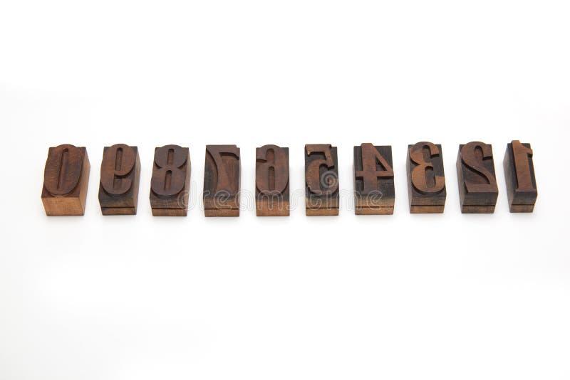 Bloques de impresión de madera foto de archivo libre de regalías