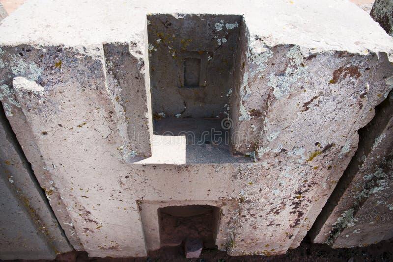 Bloques de la piedra de Punku del puma - Bolivia imágenes de archivo libres de regalías