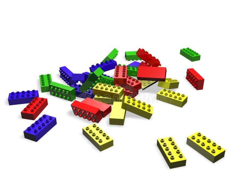 Bloques de Lego stock de ilustración