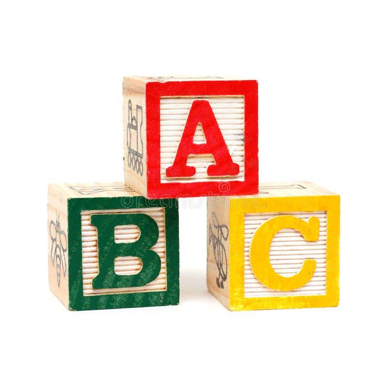 Bloques de madera de ABC imagenes de archivo