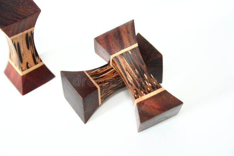 Bloques de madera decorativos imagen de archivo