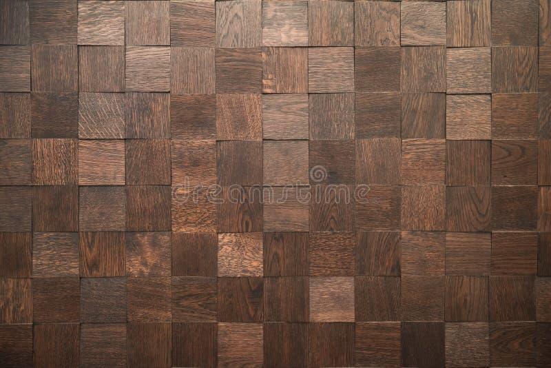Bloques de madera - modelo decorativo del revestimiento de madera - fondo inconsútil - estructura natural fina - teja de la pared imagenes de archivo