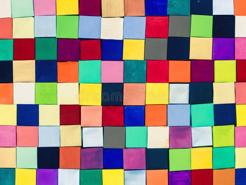 Bloques de papel del pintor de la mano en multi fotos de archivo libres de regalías