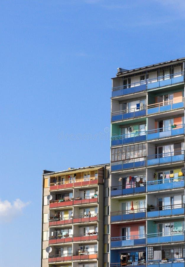 Bloques de viviendas foto de archivo