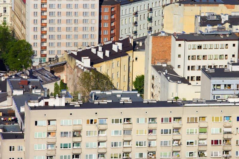 Bloques de viviendas en Varsovia fotos de archivo libres de regalías