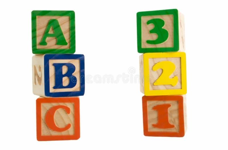 Bloques del ABC 123 fotos de archivo libres de regalías