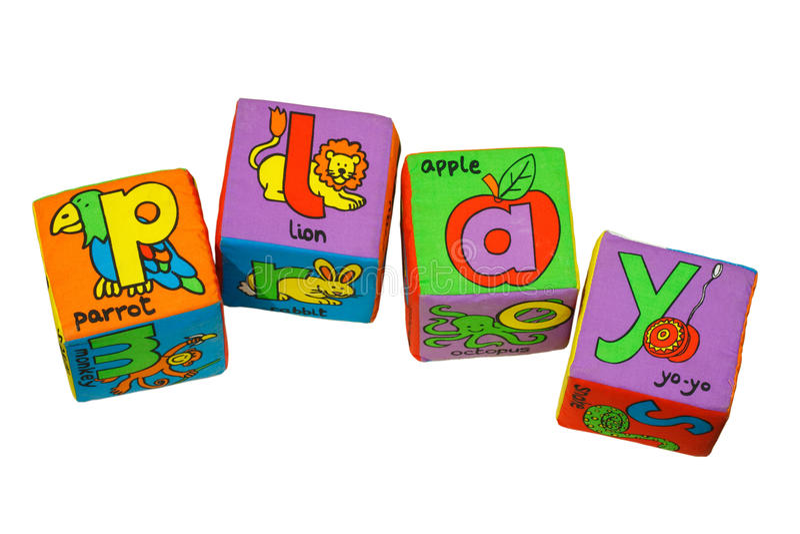 Bloques del alfabeto imagen de archivo