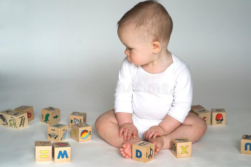 Bloques del bebé imagen de archivo libre de regalías