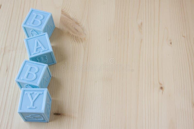 Bloques del bebé azul imágenes de archivo libres de regalías