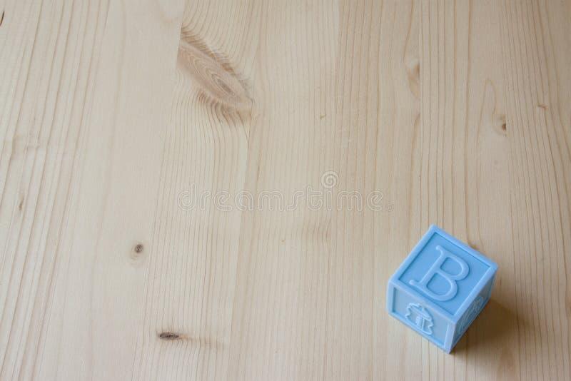 Bloques del bebé azul imagenes de archivo