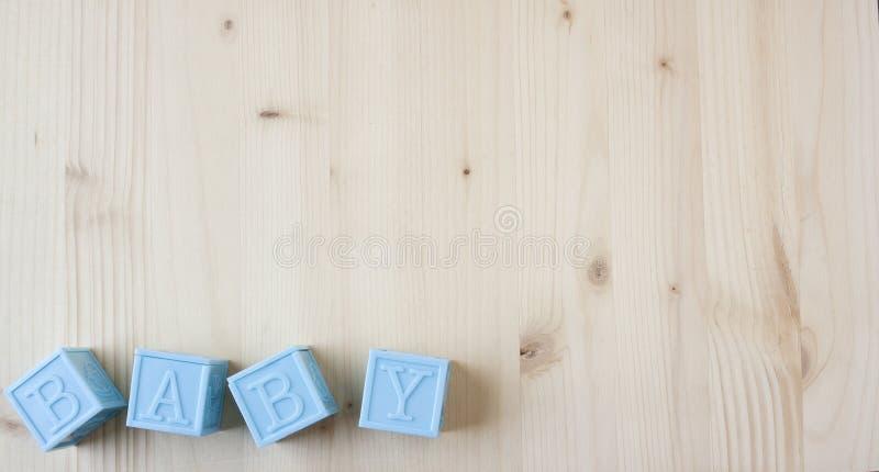 Bloques del bebé azul fotografía de archivo libre de regalías