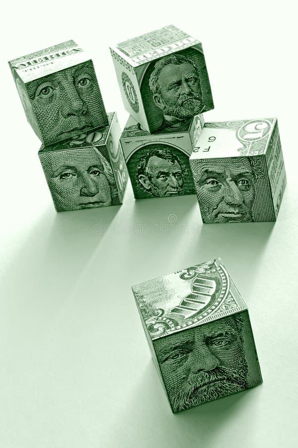 Bloques del dólar foto de archivo