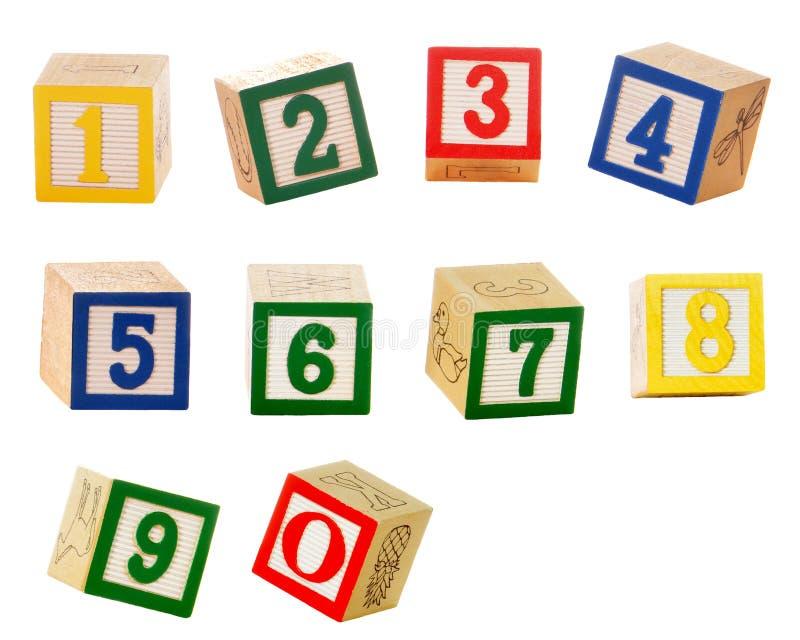 Bloques del número imagen de archivo libre de regalías