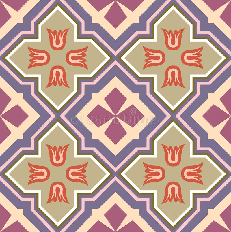 Bloques del Ornamental - fondo tejado libre illustration