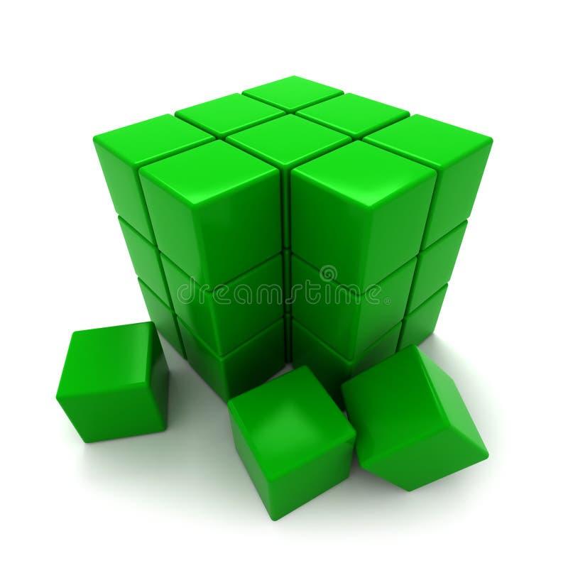 Bloques del verde ilustración del vector