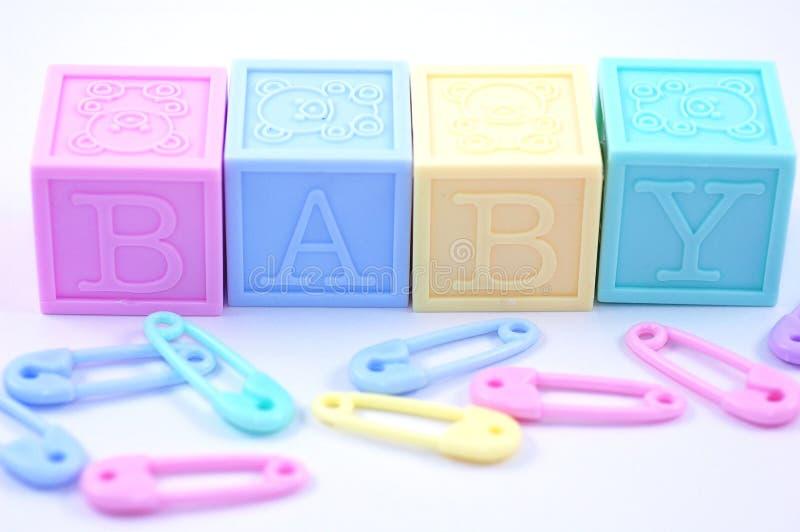 Bloques en colores pastel del bebé foto de archivo libre de regalías