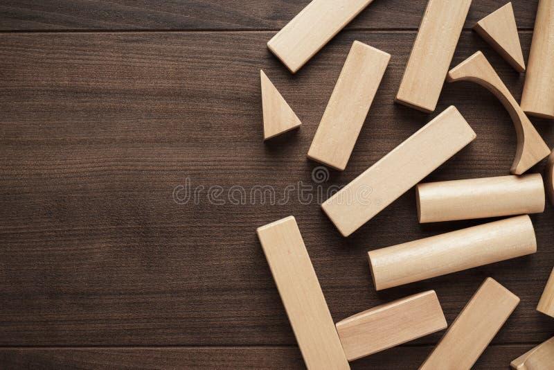 Bloques huecos de madera fotografía de archivo
