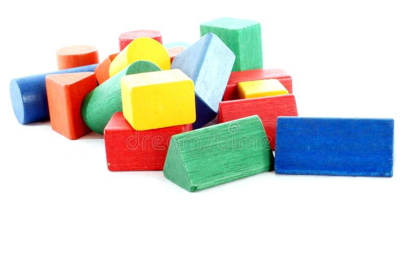 Bloques huecos - juguetes de los niños imagenes de archivo