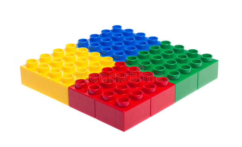Bloques huecos plásticos imagen de archivo libre de regalías