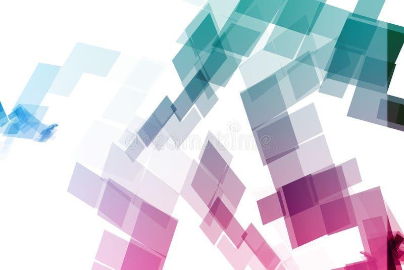 Bloques mecánicos púrpuras de la tecnología stock de ilustración