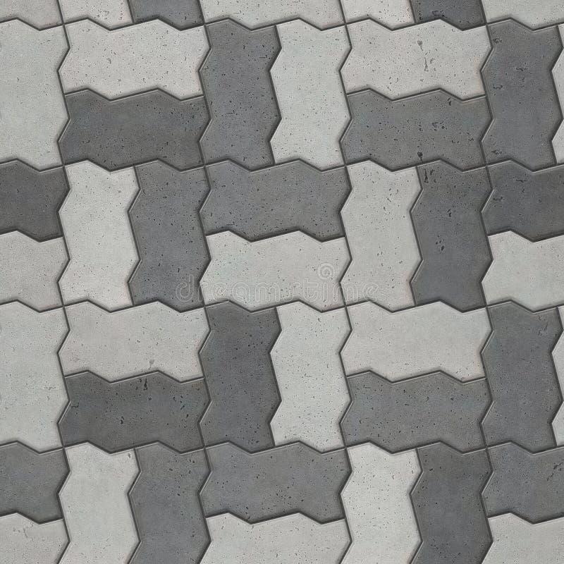 Bloques que entrelazan dicromáticos que pavimentan, textura inconsútil imagen de archivo