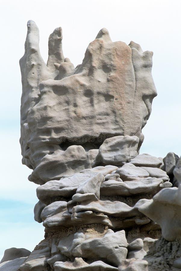 Bloquez la formation de roche formée en canyon d'imagination, Utah photo stock
