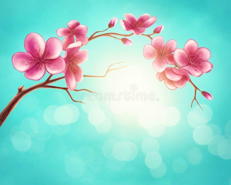 Download Blossom branch stock illustration. Illustration of tree - 113374299