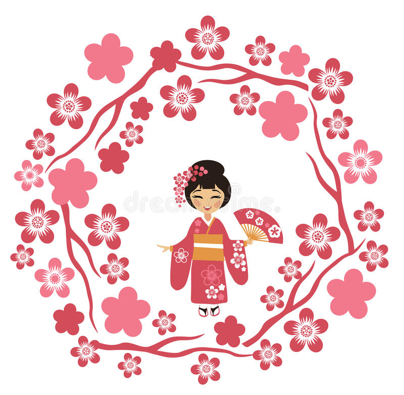 blossom festival and admiring the cherry blossoms in japan stock rh dreamstime com Japanese Cherry Blossom Oil Painting Japanese Cherry Blossom Oil Painting
