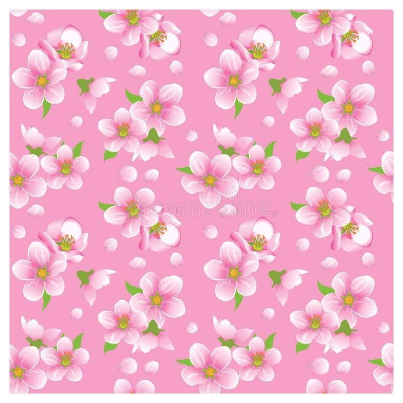 blossoming безшовная текстура бесплатная иллюстрация