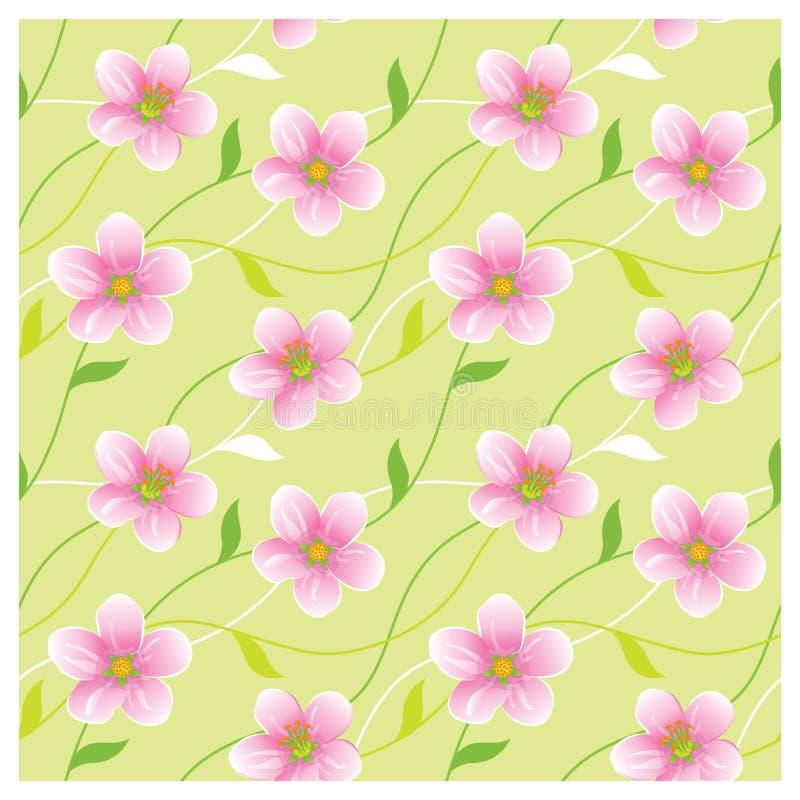 blossoming безшовная текстура иллюстрация вектора