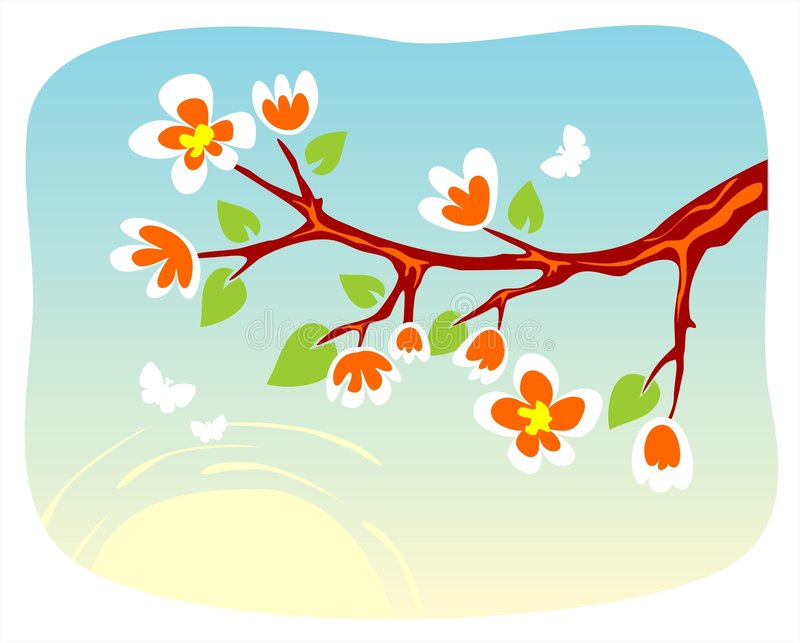 Download Blossoming branch stock vector. Illustration of graphics - 2786129