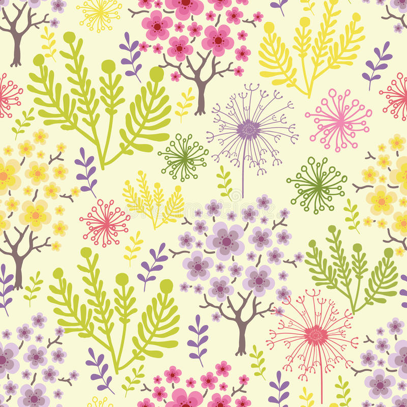 Download Blossoming Trees Seamless Pattern Background Stock Images - Image: 31572994