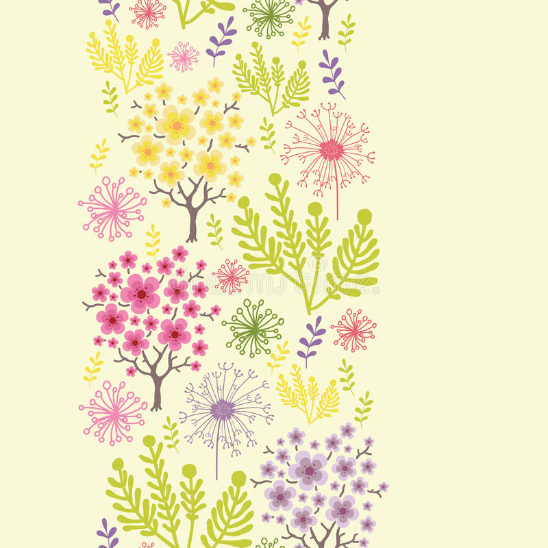 Download Blossoming Trees Vertical Seamless Pattern Background Border Stock Image - Image: 31573041
