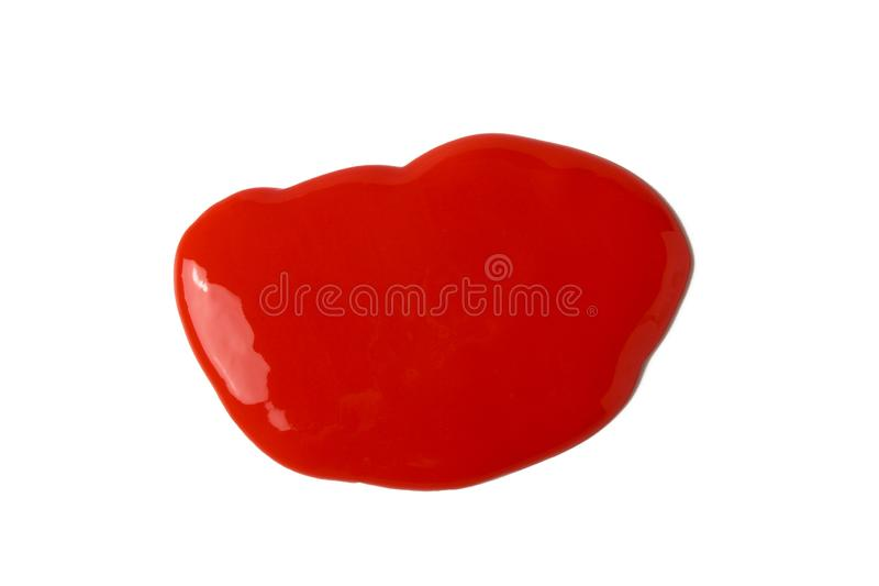 Blot. Abstract amorphous substance in the form of a red blob stock images