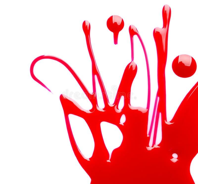 Blot of colorful nail polish on white. Background stock photos