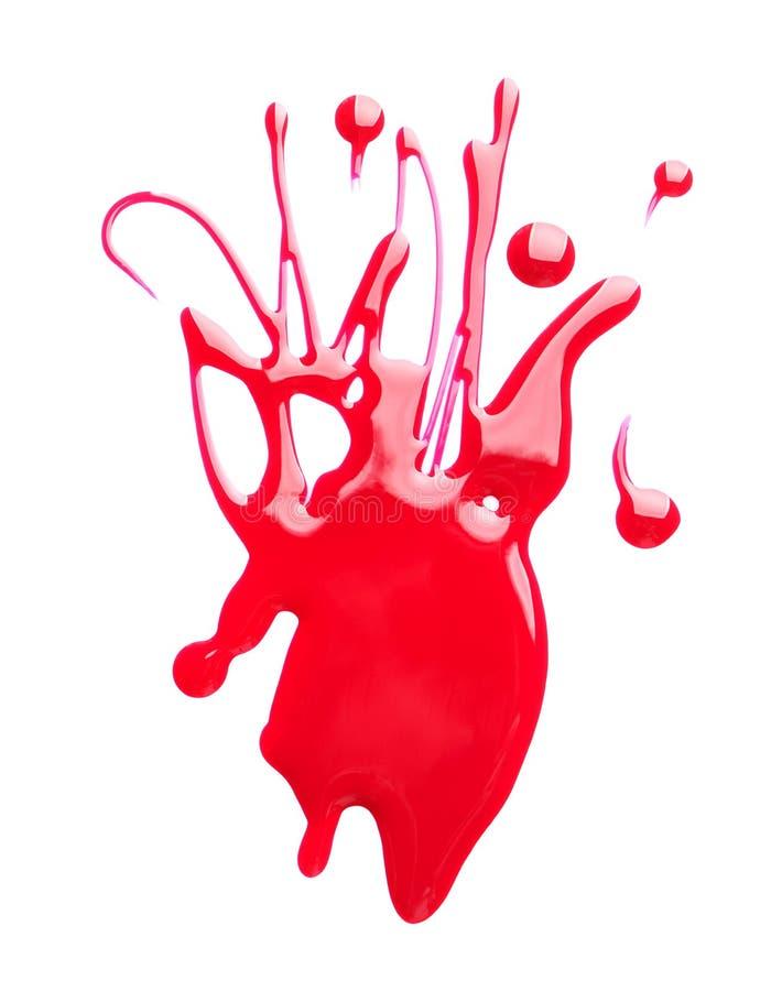 Blot of colorful nail polish on white. Background royalty free stock photo