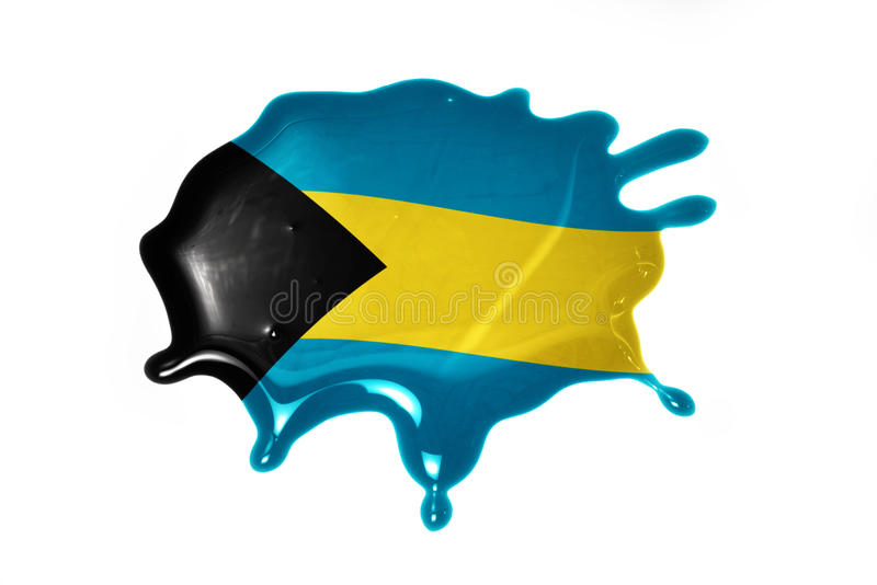 Blot with national flag of bahamas. On the white background royalty free stock images