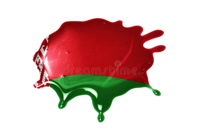 Blot with national flag of belarus. On the white background stock image