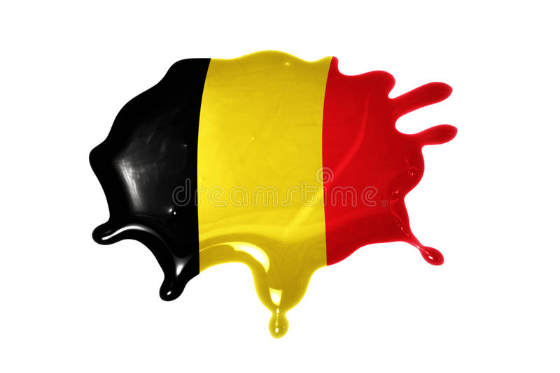 Blot with national flag of belgium. On the white background royalty free stock image
