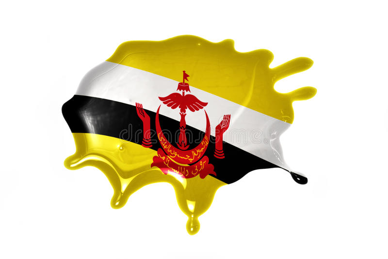 Blot with national flag of brunei. On the white background stock images
