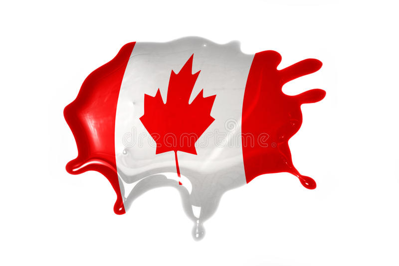 Blot with national flag of canada. On the white background stock images