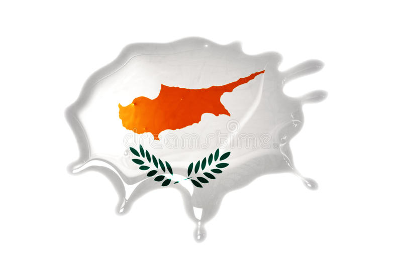 Blot with national flag of cyprus. On the white background stock photo