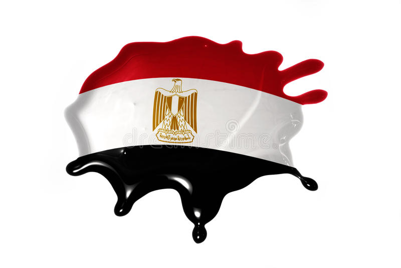 Blot with national flag of egypt. On the white background stock images