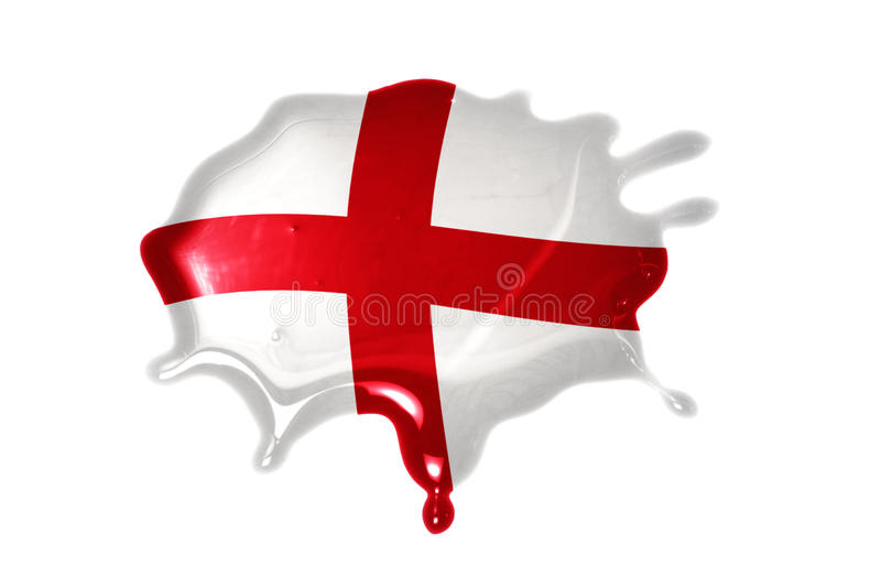 Blot with national flag of england. On the white background stock photography