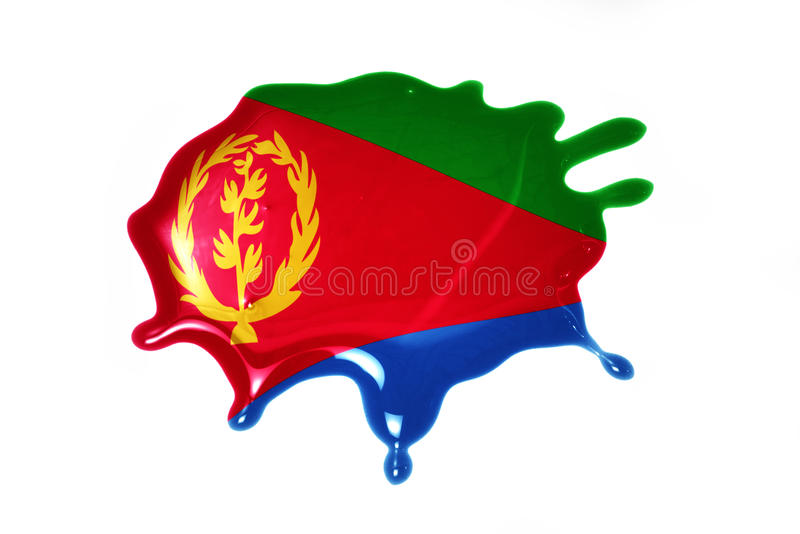 Blot with national flag of eritrea. On the white background royalty free stock photography